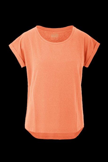 T-shirt Basica in Cotone Misto Lino