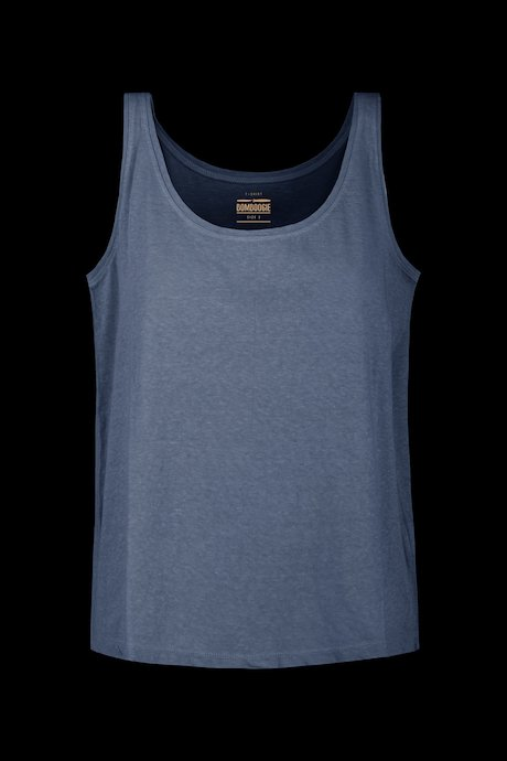 Short tank Corta linen-cotton