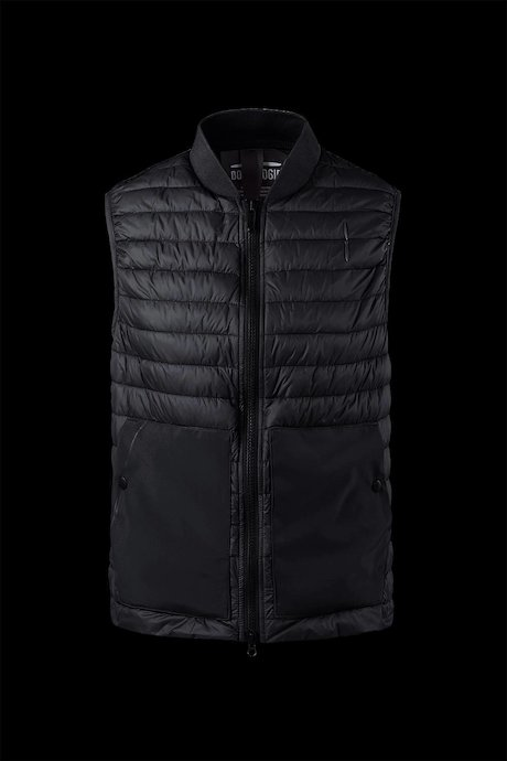Down vest with wide pockets