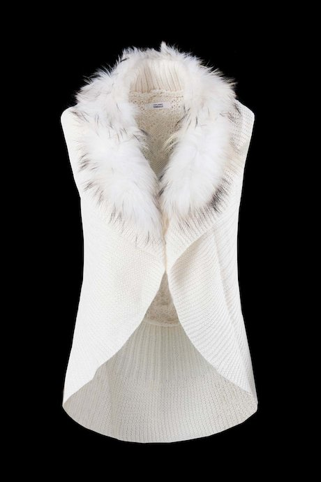 Vest Tricot with Fur Inserts