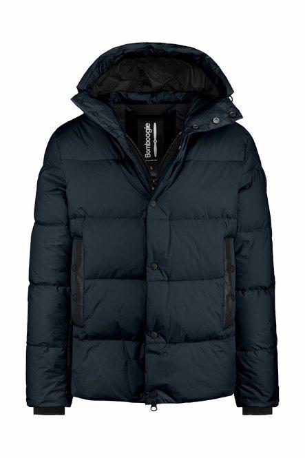 Short down jacket in nylon