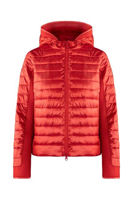 Bi material jacket in nylon sateen synthetic filling
