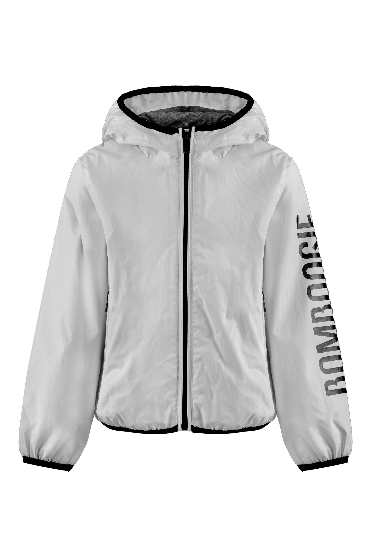 Jacket with logo print