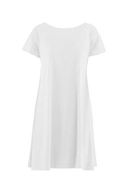 Kleid aus Jersey mit U-Boot-Ausschnitt