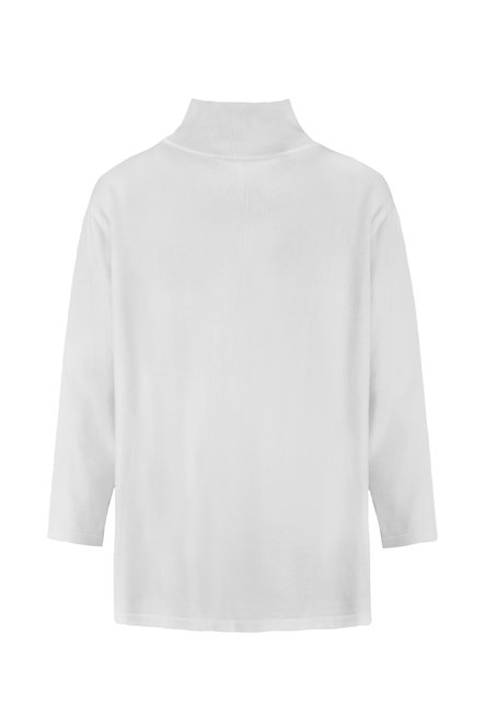 Tricot turtleneck sweater in organic cotton