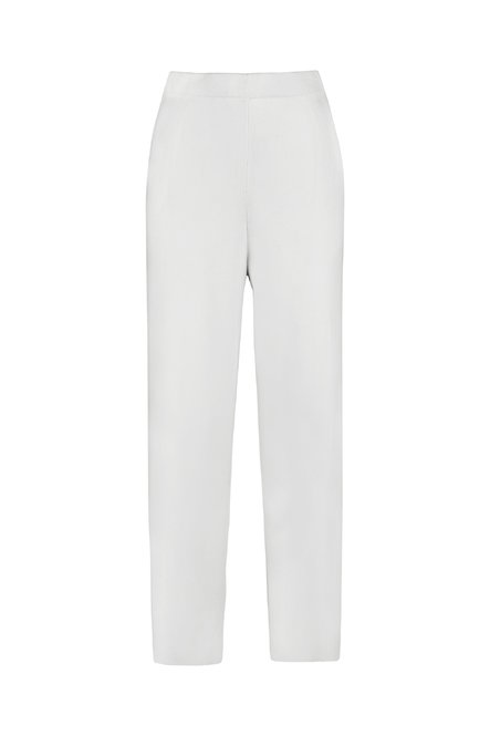 Tricot wide-leg trousers in organic cotton