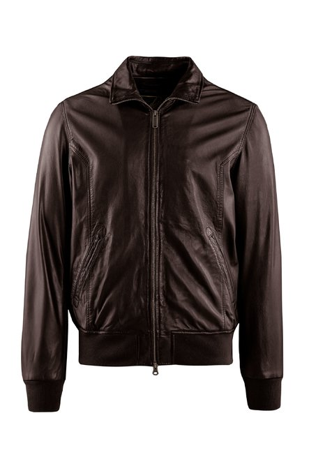 Chel leather bomber jacket