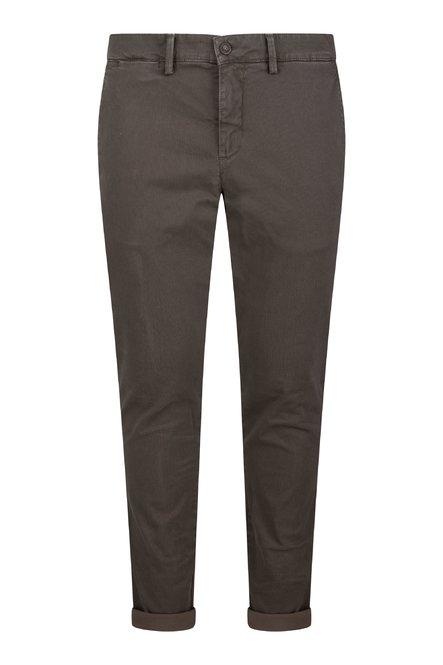 Pantaloni Well in Cotone Stretch con Microstampa