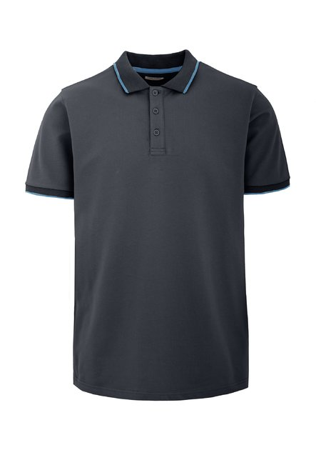 Three buttons polo T-shirt in cotton piquet