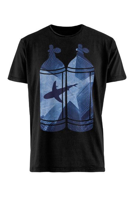 T-Shirt mit Tanks Druck