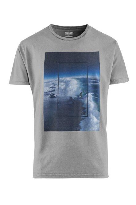 T-Shirt mit Wave Druck