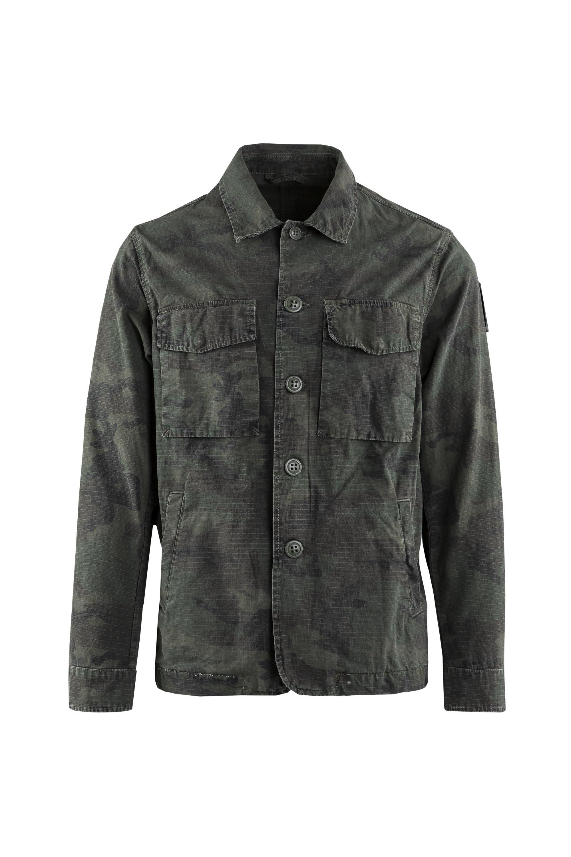 Shirt jacket camouflage print