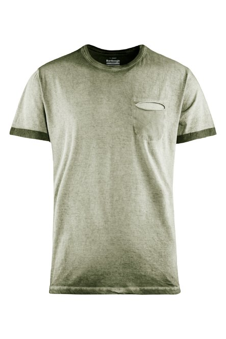 T-shirt cold dyed with small pocket