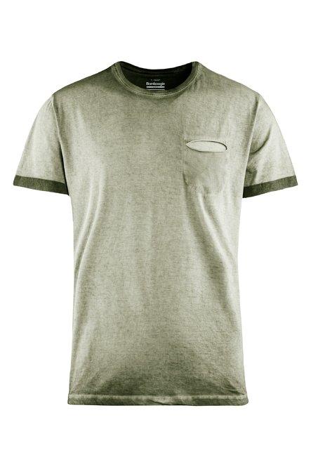 Kalt gefärbtes T-Shirt mit Brusttasche