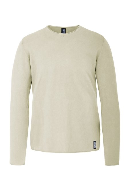 Pullover cotton tricot cold dyed