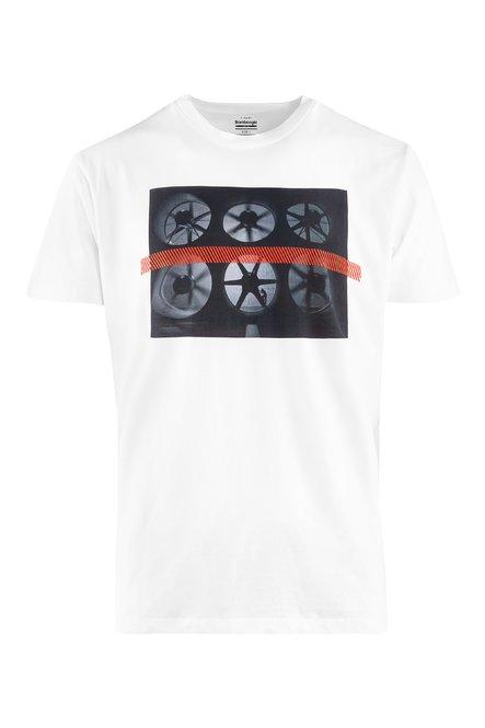 T-shirt with Turbines print