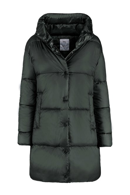 Oversized down jacket with high neck