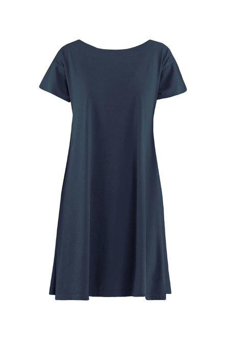 Jersey dress with boat neck
