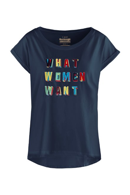 T-Shirt mit gestickte Buchstaben