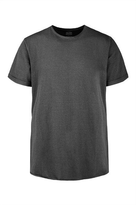 T-Shirt aus gemischter Leinenbaumwolle