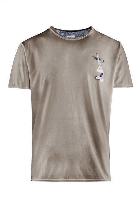 Kalt gefärbtes T-Shirt mit Mini Pin-up