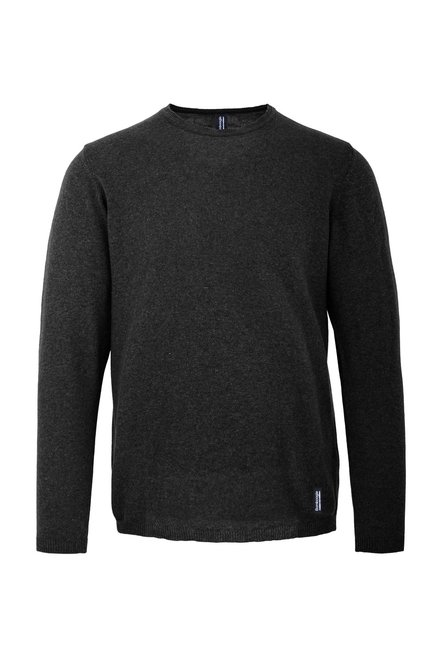 Pullover cotton tricot garment dyed