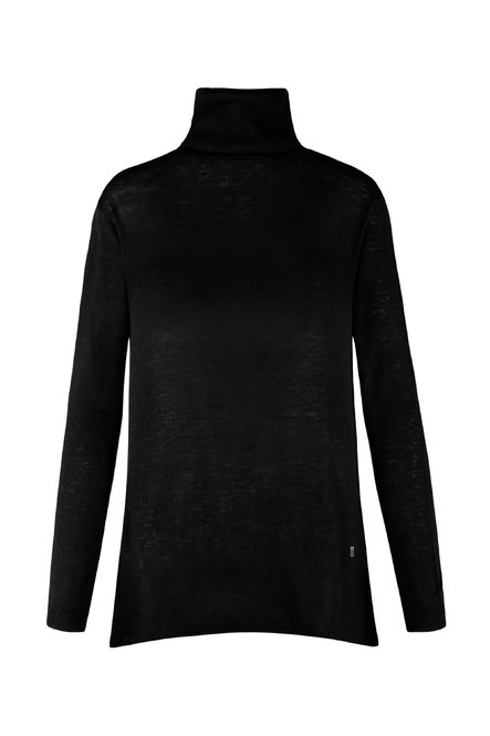 Tricot turtleneck sweater oversized