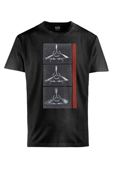 T-Shirt mit Propeller Druck
