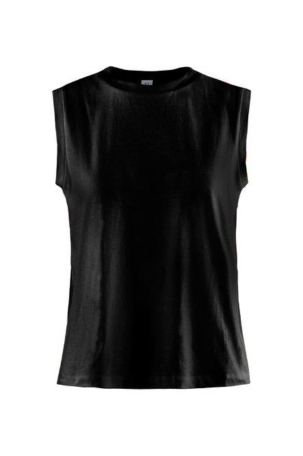 Ärmelloses T-Shirt mit Georgette Einsätze