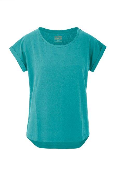 Basic T-Shirt aus Baumwoll-Leinen-Mischung