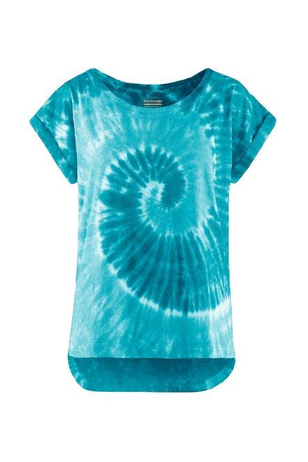 T-shirt in cotton-linen Tie-Dye spiral