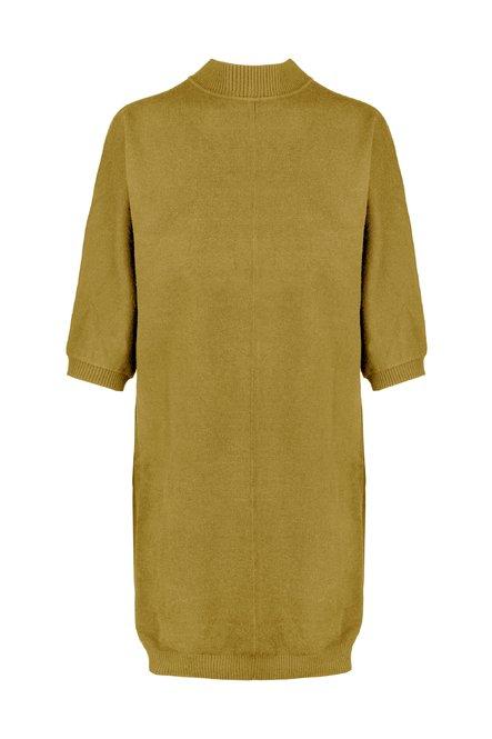 High collar dress in viscose blend