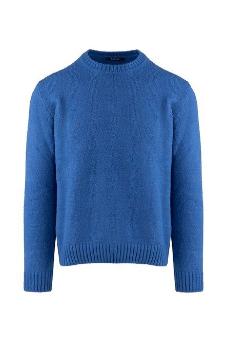 Round neck pullover in wool blend