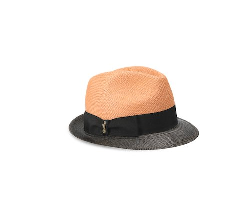 Small-brimmed two-toned Panama Quito