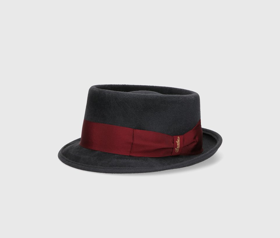 Velour pork pie hat