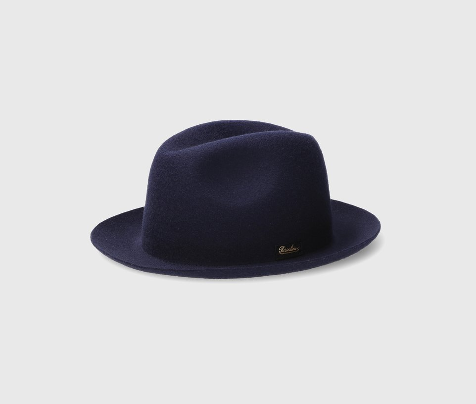 Wool medium-brimmed