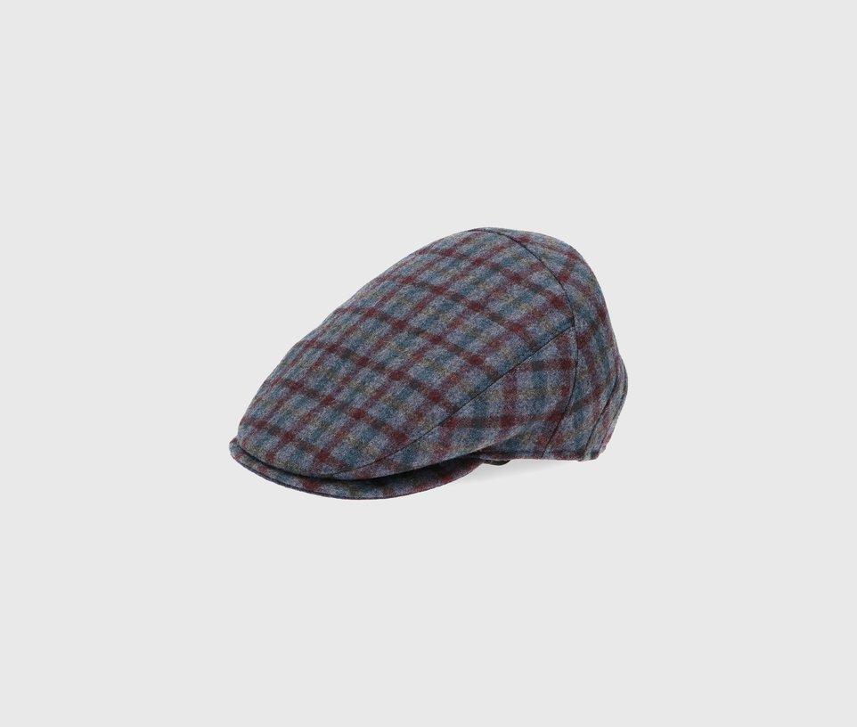 Microcheck Flat Cap