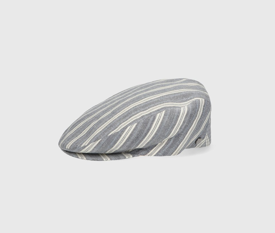 Flat striped cap