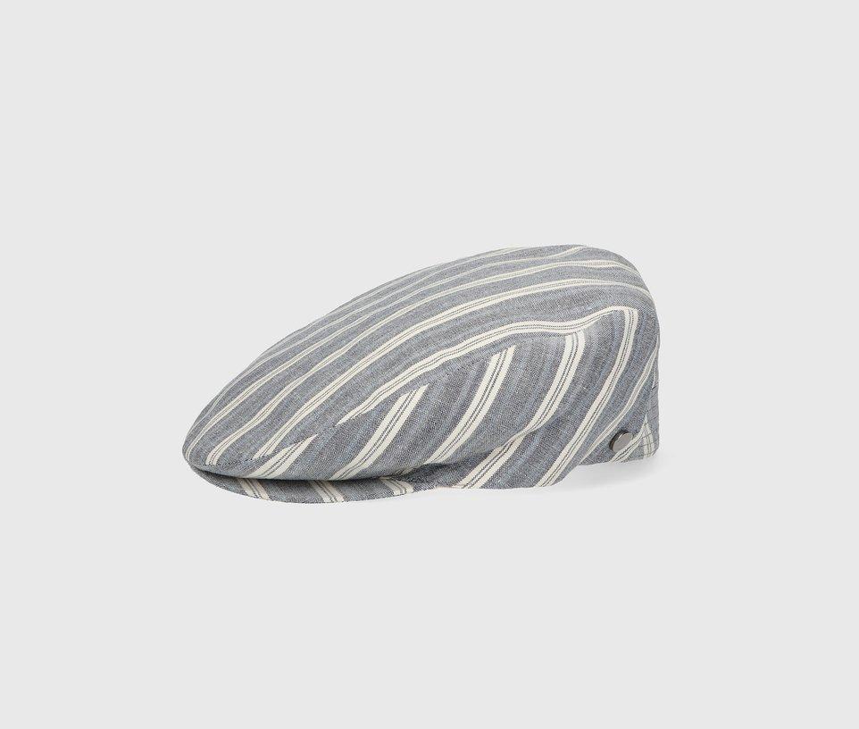 Flat striped cap