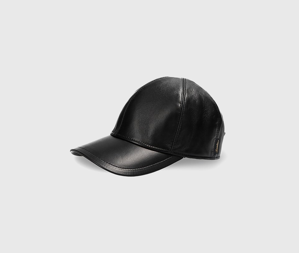 Baseball leather black