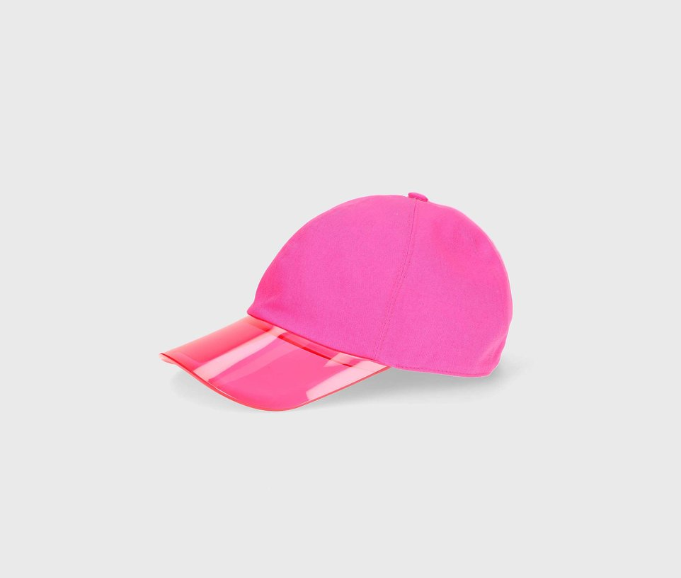 Baseball cap with P.V.C peak front