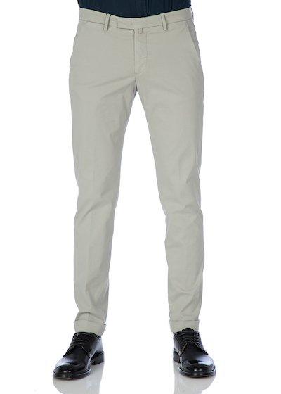 Satin slim fit slash pocket trousers