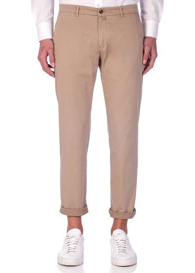 Slim fit slash pocket trousers satin - Beige