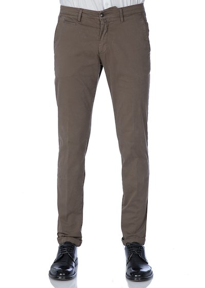 Satin comfort slash pocket trousers