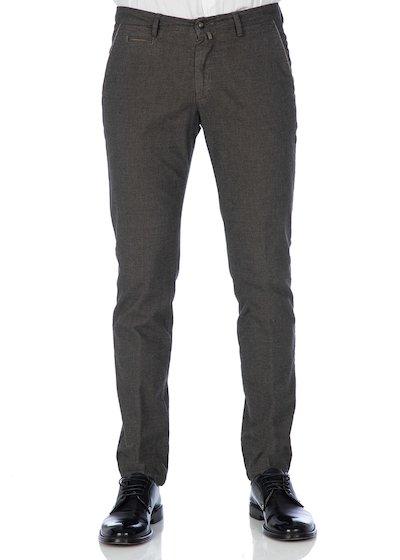 Pantalone tasca america con profilo in gabardine effetto lana