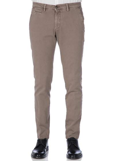 Pantalone tasca america con profilo effetto vintage - Light Beige