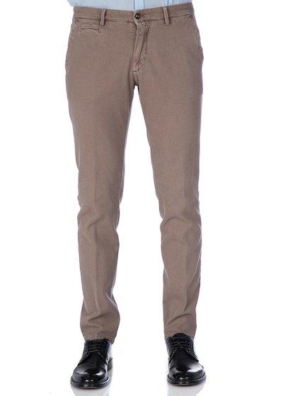 Pantalone tasca america con profilo tasca anteriore - Light Beige