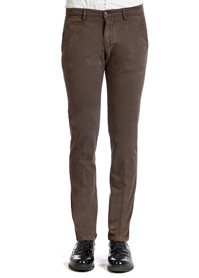 Gabardine comfort slash pocket trousers