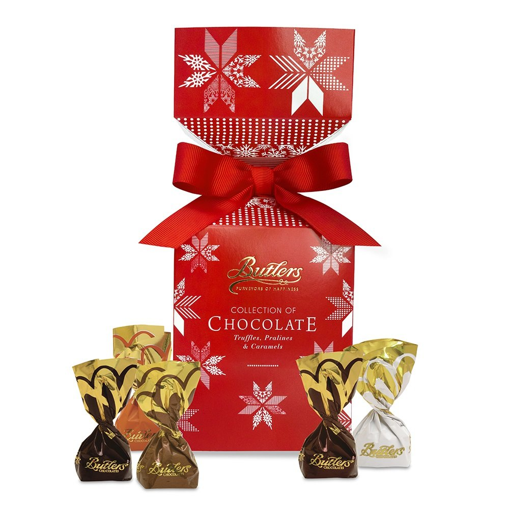 Yuletide Cracker with assorted individually wrapped Chocolates