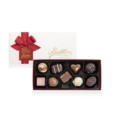 Butlers Small Embossed Signature Christmas Assortment, with 9 Chocolates